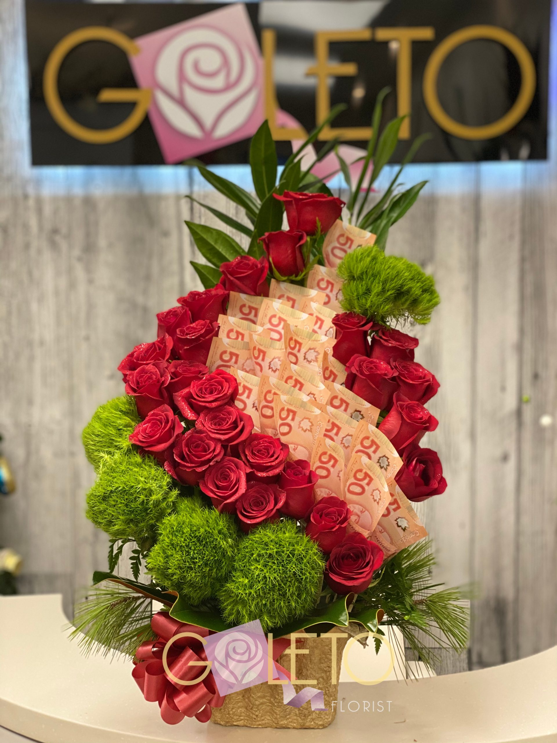 Flower Money wrap